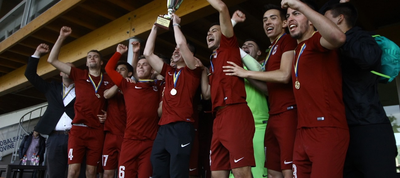 JUNIORS OF SARAJEVO WINNERS OF THE BH YOUTH CUP